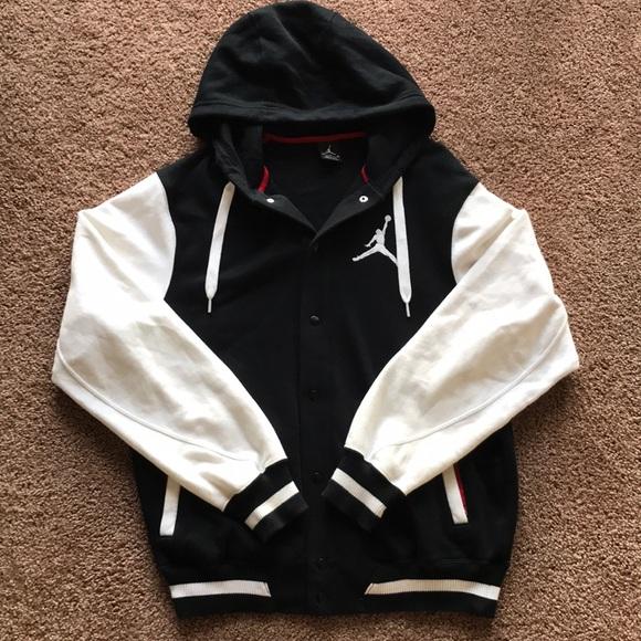 35e99385c70 Jordan Jackets & Coats | Nike Air Jumpman Varsity Button Up Jacket ...